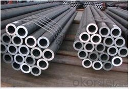 Seamless steel tube for transmission of fluids
