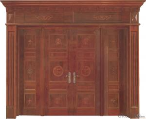 Oak engineered half glass design wooden entry door