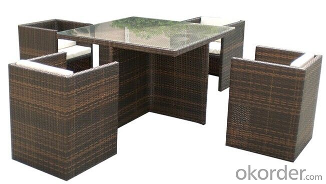 Modern Patio Rattan Dinner Set