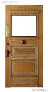 CE Exterier fireproof steel security door (QH-0214)