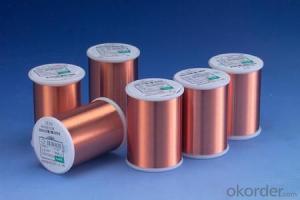 Enameled copper clad aluminum wire