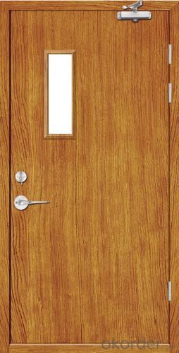 Anti Fire Door with Wooden Colors