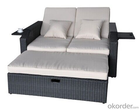 Rattan/Wicker Double Sun Bed