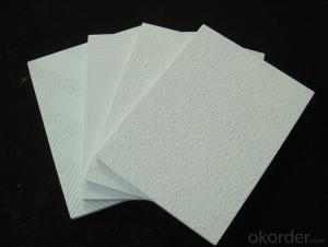 Vinyl Coated Gypsum Ceiling Tiles 595*595*9mm