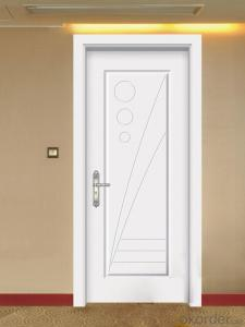 high quality pvc membrane mdf wooden entrance door designs double door with glass inserted