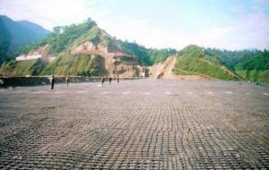 Bitumen coated fiberglass geogrid (asphalt reinforcement)