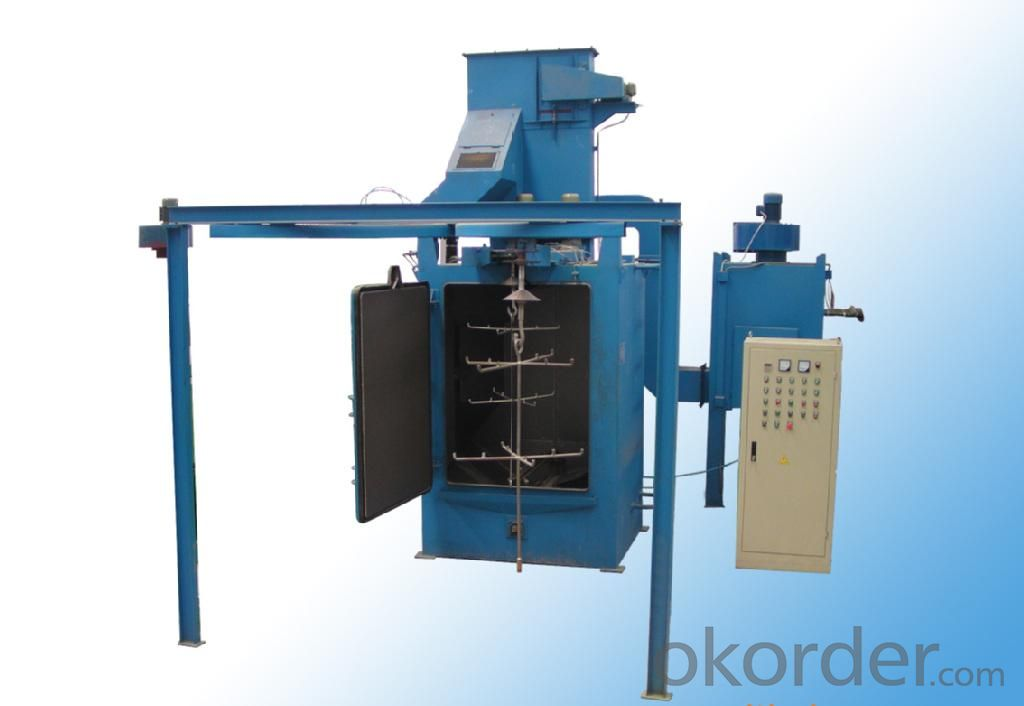 Q48series Casting Overhead hanger chain type shot blasing machine/shot peening machine/wheelabrator for LPG Cylinder