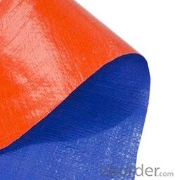 Blue orange coated waterproof tarpaulin
