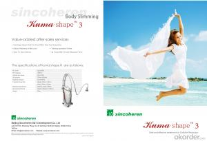 Kuma shape like Vela shape RF vacuum machine for body shaping cellulite removal