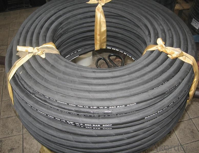 High pressure hose to the winding wire matrix, skin coated