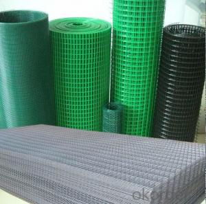 PVC Coated Welded Wire Mesh with Customised Size and Colours