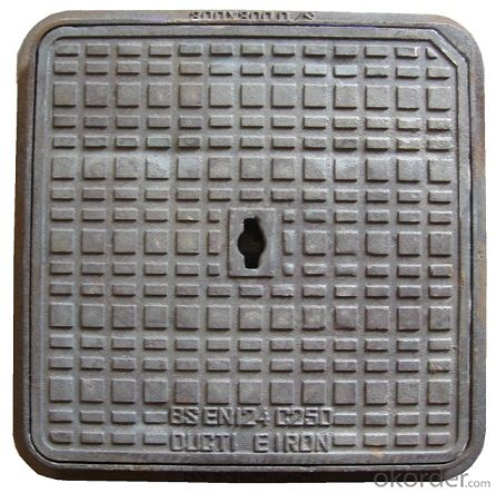 Manhole Cover Square with Frame or with Handle