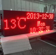 P10 Red Color Outdoor LED Scrolling Message Sign CMAX-M5