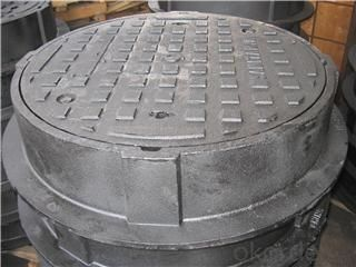 en124 d400 cast iron manhole cover 850*850