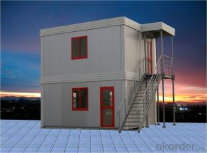 Double Storey Prefabricated Container House of Hotel and Hospital Building
