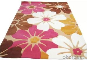 Flower design Acrylic floor carpet