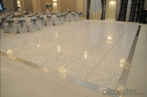 Your best choice ! Led white starlit dance floor for wedding