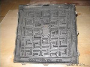 Ductile cast iron manhole cover D400