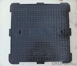 Manhole Cover Cast Iron EN 124 D400 Square Made in China