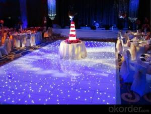 Unmissable ! Led white starlit dance floor for decoration