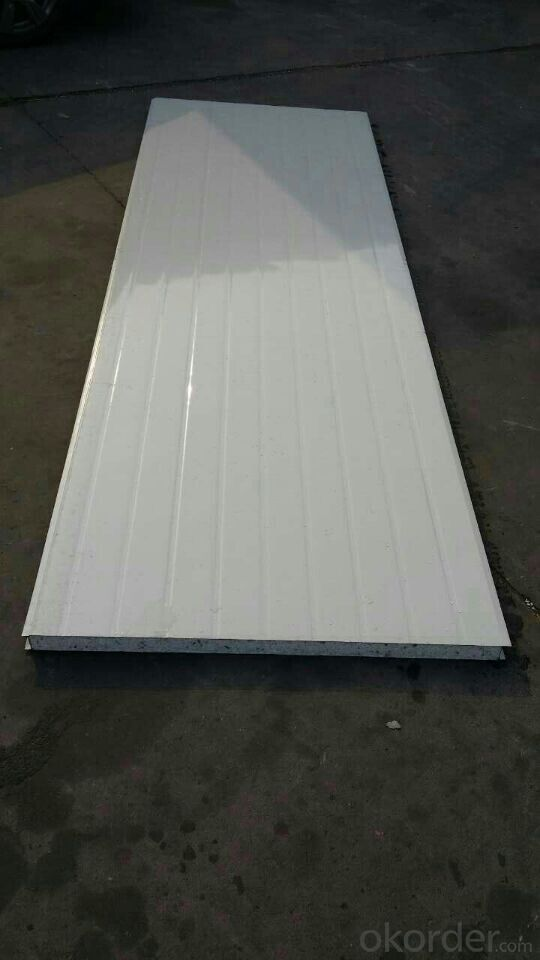 Colored Corrugated Galvanized Steel EPS Sandwich Wall Panels