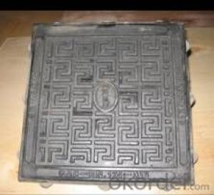 HOT! D400 F900 ductile iron square manhole cover with lock & hinge