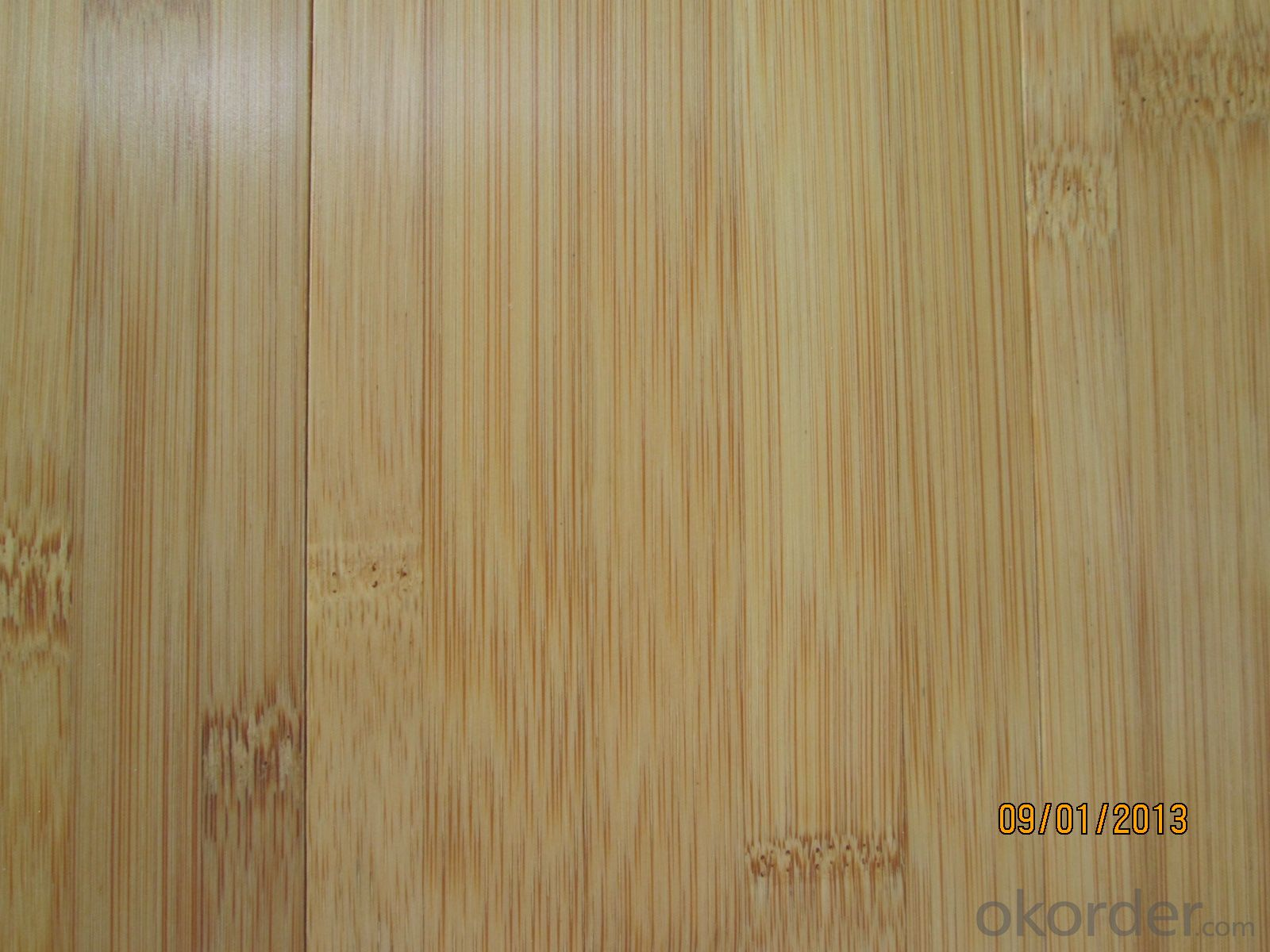 Solid Bamboo Flooring  Verticle  Structure Natural Color UV Finish