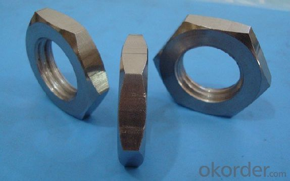 Unchamfered Hexagon Thin Nut  DIN439