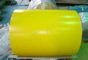 EXCELLENT COLOR COATED STEEL COIL YELLOW