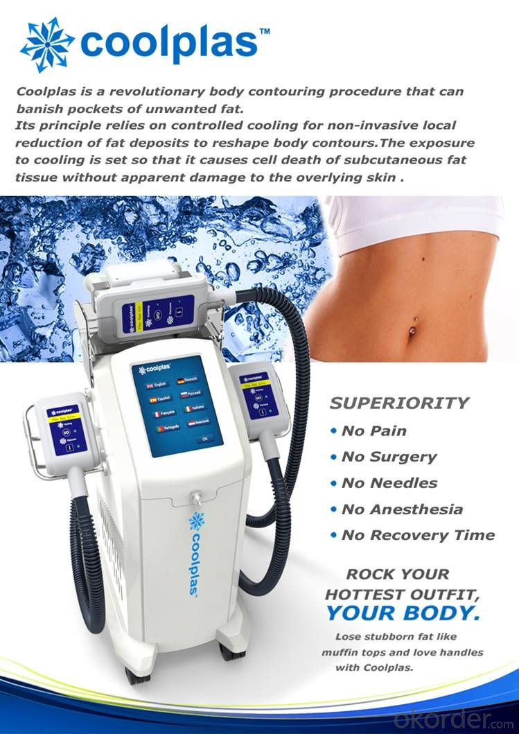 Coolplas cryolipolysis fat freezen body slimming machine price good