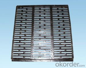 Manhole Covers Black Square with Handles