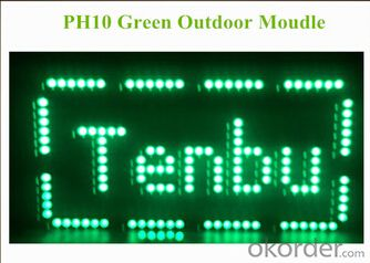 Outdoor Single Color Green P10 LED Display CMAX-S10