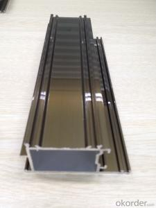Aluminum profile for building material