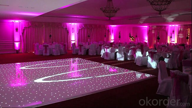 Hot selling ! Led white twinkling dance floor for wedding