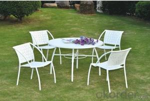 Outdoor White Garden Chair Table