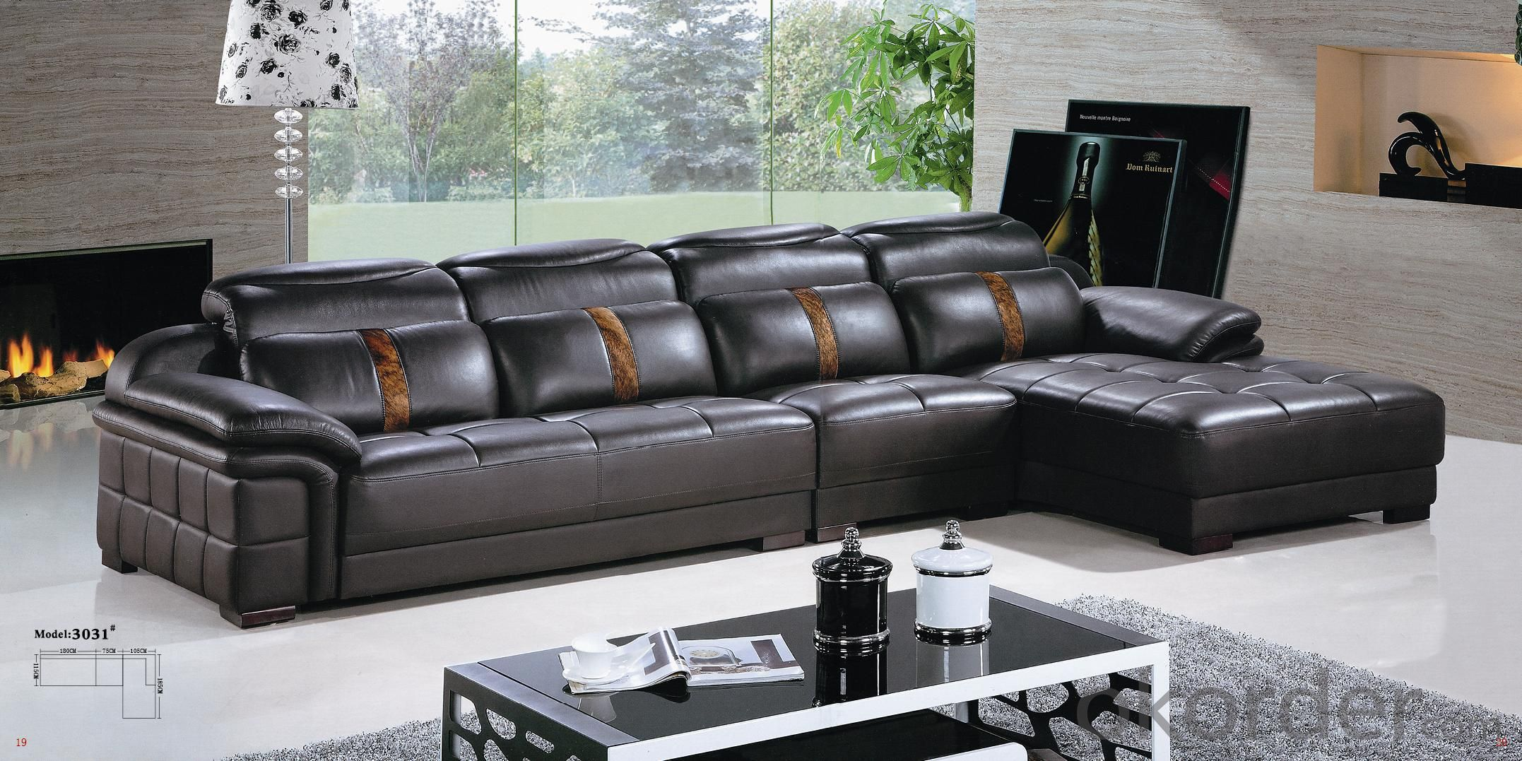 Leather sofa model-19