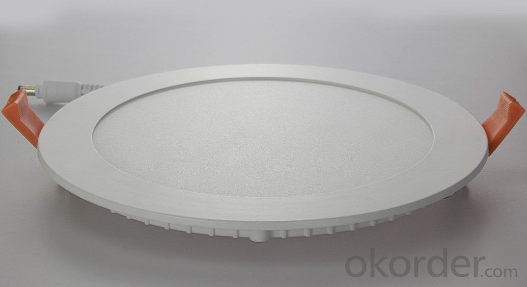 Slim Led Panel Light 9W CRI 80 PF 0.5 Recessed Mount Round Shape