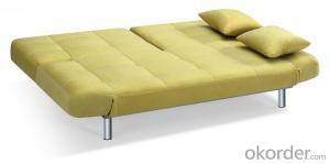 Leather sofabed in fabric model-18