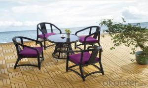 Patio Rattan Garden Dining Furniture Set