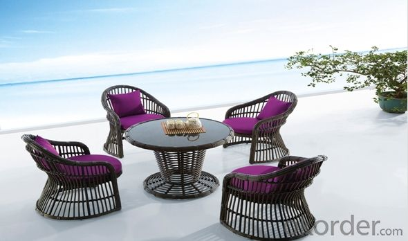 Outdoor Rattan Table Chair Set
