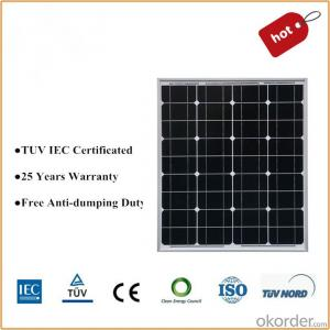 Mono 80w Solar Panel with Certification TUV  and UL