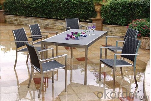 Outdoor Office Table Chair Set