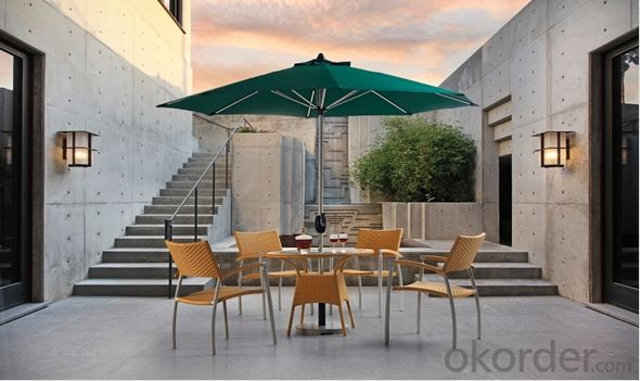 Outdoor Rattan Stacking Chair Garden Set