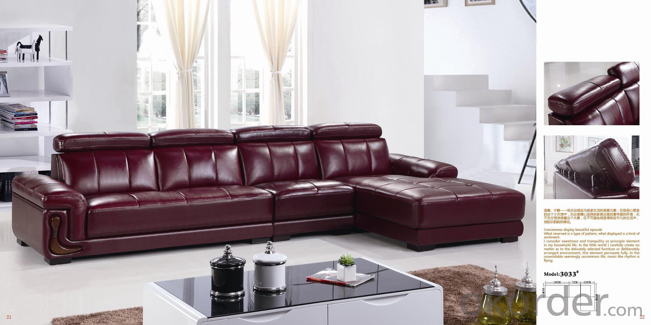 Leather sofa model-18