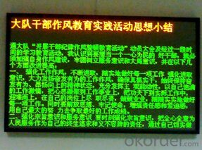 Flashing Good Quality Indoor LED Message Sign CMAX-M1