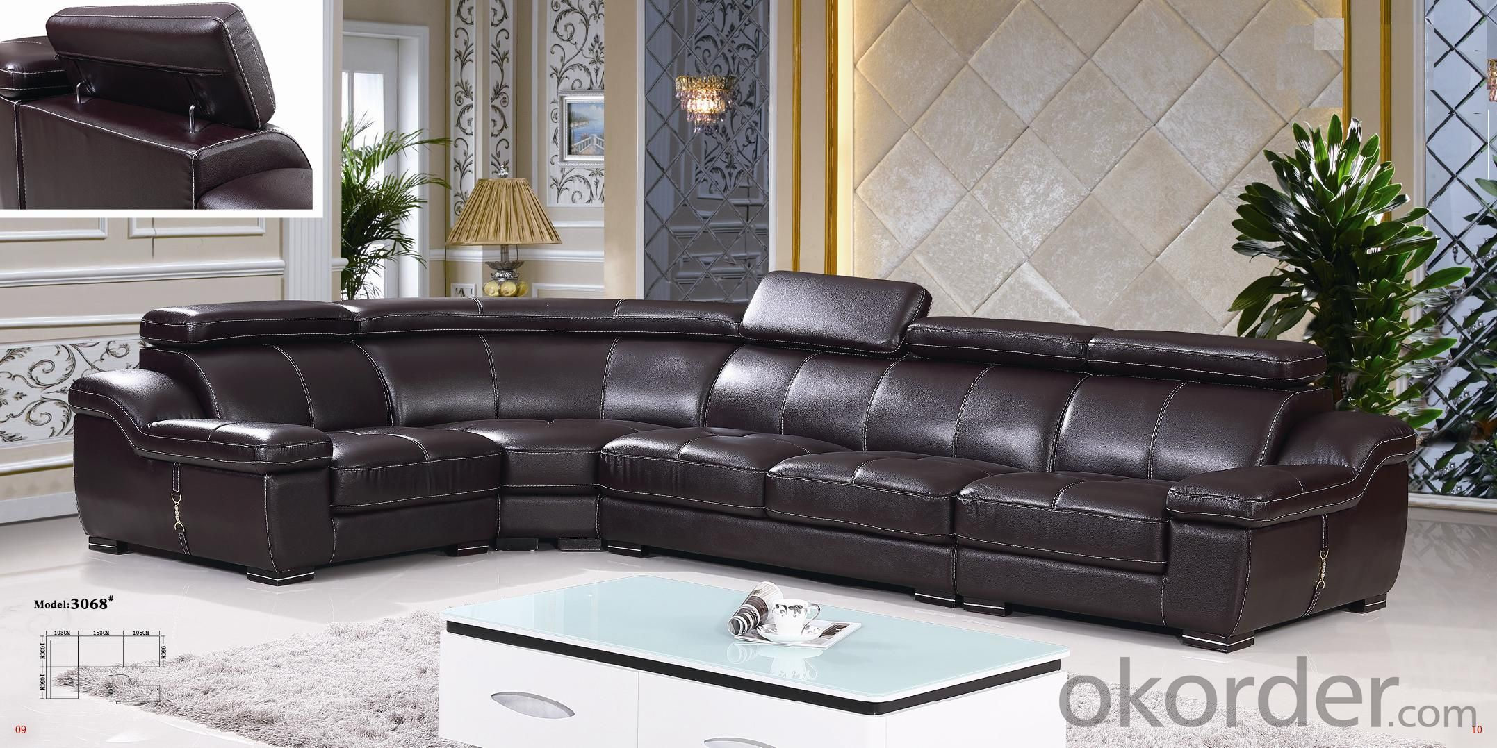 Leather sofa model-20