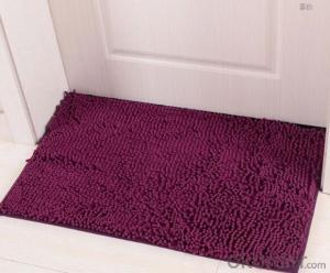 chenille shaggy bath mat door mat rug