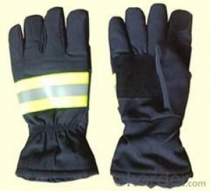 black antifire glove for military use