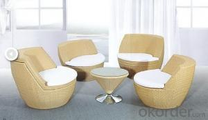 Outdoor Rattan Chaise Furniture Set
