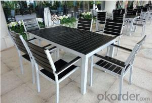 Outdoor Plastic Wood Chair Table